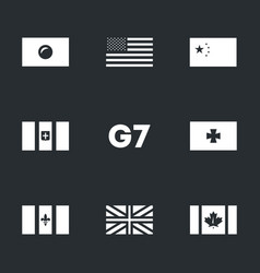 Set of g7 union icons vector