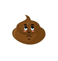 Shit sad emoji turd sorrowful emotion isolated vector