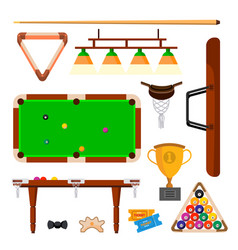 Snooker icons set snooker billiard vector