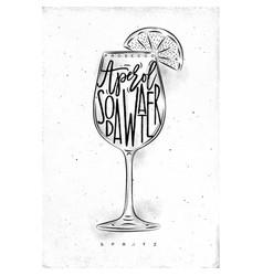Spritz cocktail vector