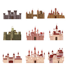 srt castles fortress ancient architecture vector image