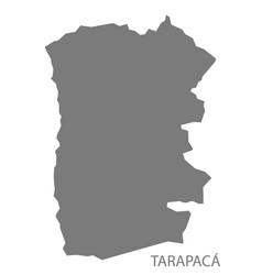 tarapaca chile map grey vector image