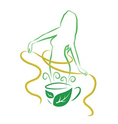 Tea for weight loss vector image