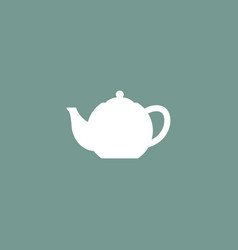 teapot icon simple vector image