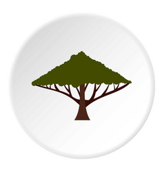 Tree with large crown icon circle vector