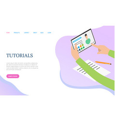 tutorials web training knowledge network vector image