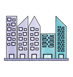 Urban towers buildings vector