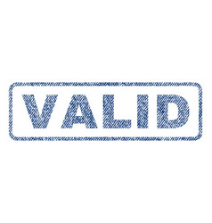 Valid textile stamp vector