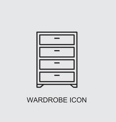 Wardrobe icon vector