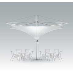 White Blank Inversed Outdoor Beach Cafe Umbrella vector