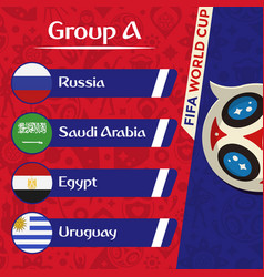 World cup 2018 group a team image vector