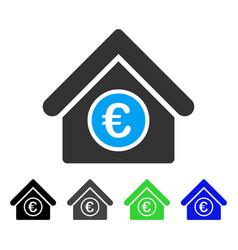 Euro financial center flat icon vector