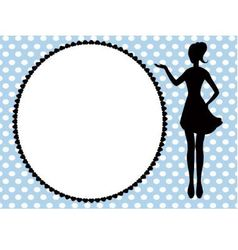 woman silhouette and frame vector image vector image