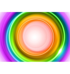 background rainbow light center big vector image vector image