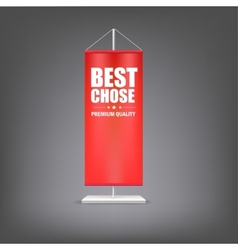 Best chose vertical red flag at the pillar vector