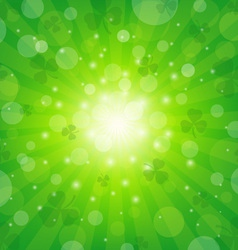 Clover Sunburst Background vector image