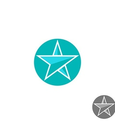 Star logo round graphic shape mockup design vector image vector image