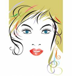 hairstyle lady vector image
