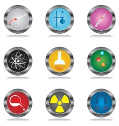 science buttons vector image vector image