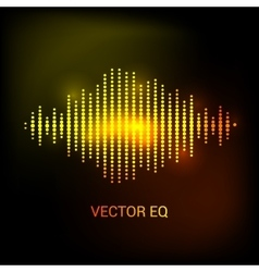 Single colorful eq equalizer sound audio vector image vector image