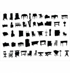 ancient furniture vector image