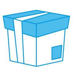 cardboard box isolated vector image