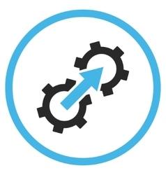 Gear Integration Flat Icon vector image vector image