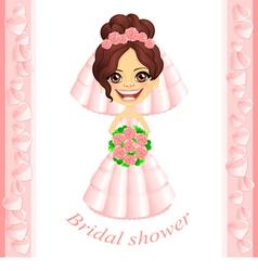 Pink Bridal shower invitation vector image