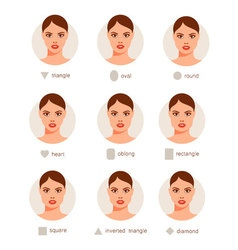 Set of different woman faces vector image vector image
