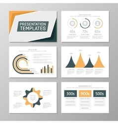 Set of orange and blue template for multipurpose vector
