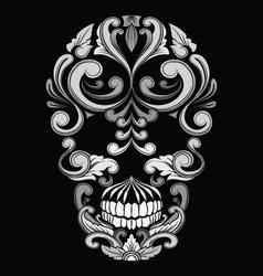 Skull ornamental indonesian style vector