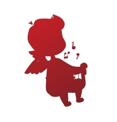 Valentine Day cupid angel cartoon style vector image vector image