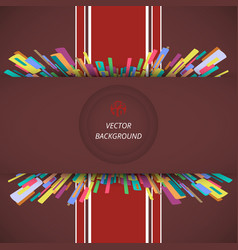 abstract of classic envelope background with red vector image