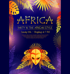 African style party poster vector