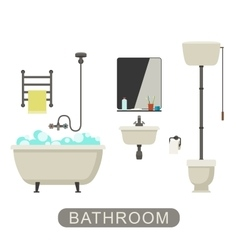 Bathroom with furnirure vector image
