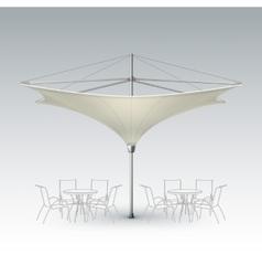 Beige Inversed Outdoor Cafe Parasol for Branding vector
