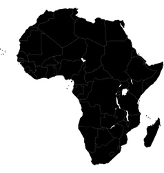 Black Africa map vector image
