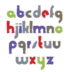 bright acrylic font handwritten watercolor vector image