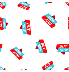 buy now banner badge icon seamless pattern vector image