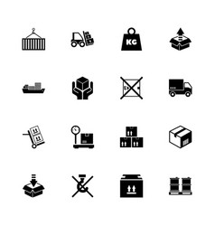cargo - flat icons vector image