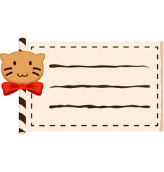 Cat paper roll copy-space vector