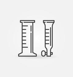 Chemistry laboratory glassware concept vector