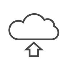 Cloud storage thin line icon vector
