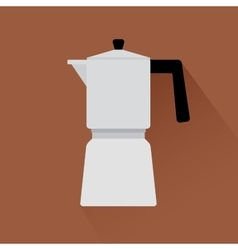 Coffee maker icon with shadow vector