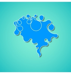 Colorful concept of the human brain vector image