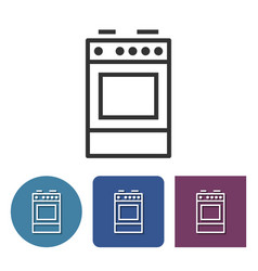 Cooker line icon in different variants vector