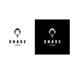 Cool and attractive snake logo vector