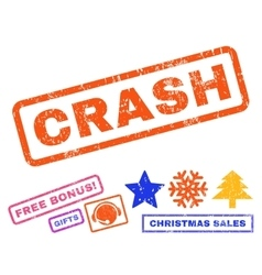 Crash Rubber Stamp vector