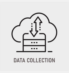 data collection icon on white background vector image