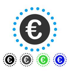 Euro gold coin flat icon vector